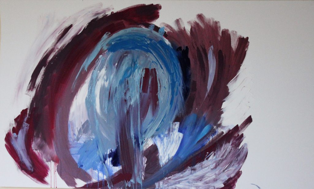 Untitled blue and purple on canvas large