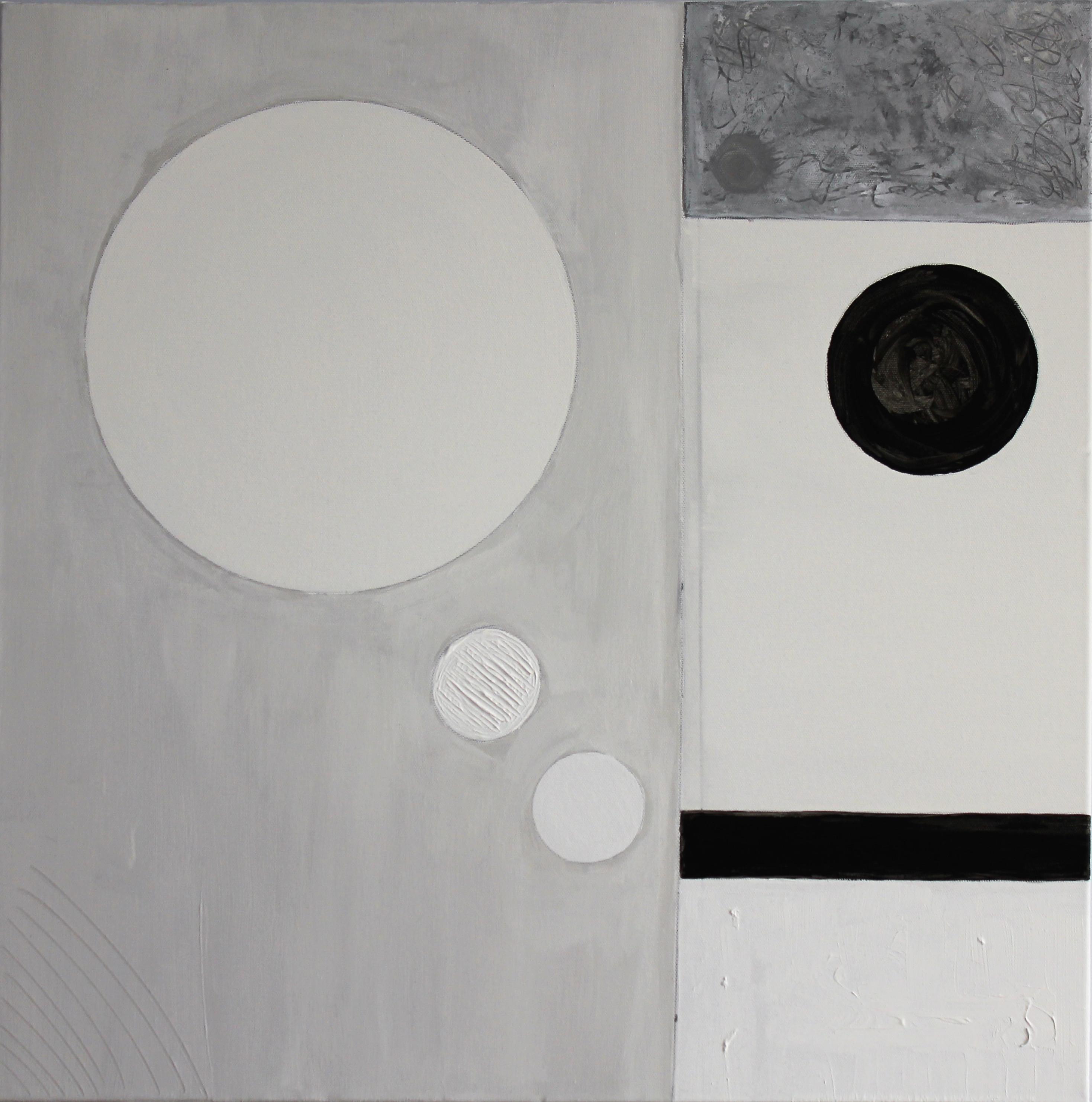 Monochrome Series Untitled II 60cm x 60cm  Acrylic 2017  £350