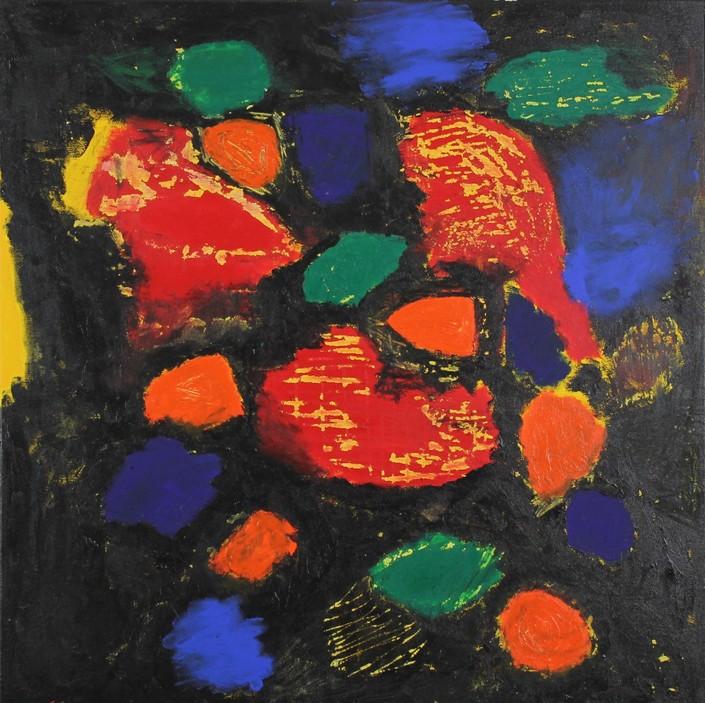 Black Series Untitled II, Acrylic on canvas, h 70cm w 70cm, 2017 £600